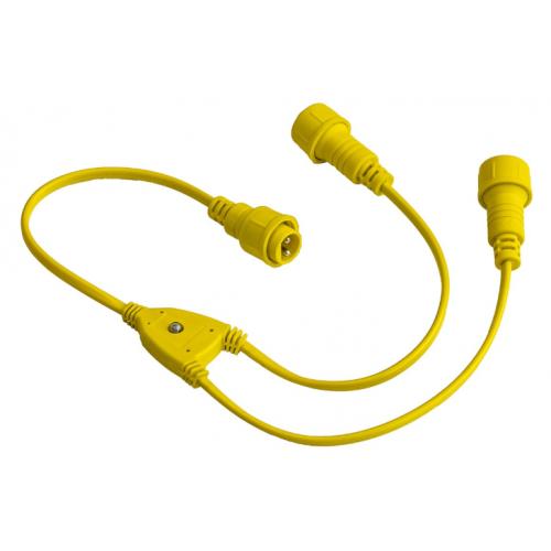 30CM SPLITTER CABLE FOR FESTOON, 1 MALE - 2 FEMALE CONNECTOR