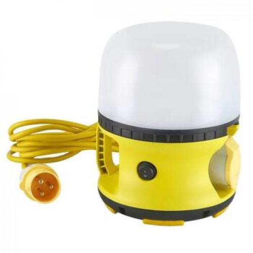 110v LED Globe Site Work Light & Socket