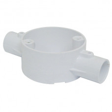 2-Way Through Box PVC 20mm White