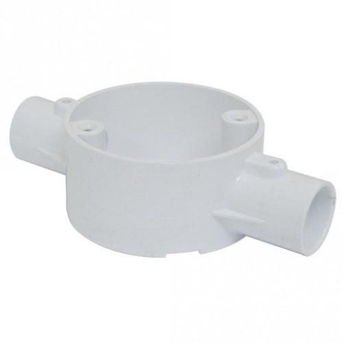 2-Way Through Box PVC 20mm White