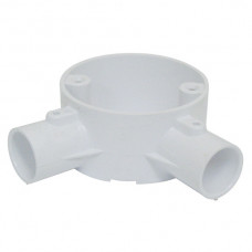 2-Way Angle Box PVC 20mm White