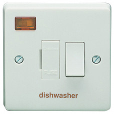 Crabtree switched fused connection unit with neon indicator marked dishwasher
