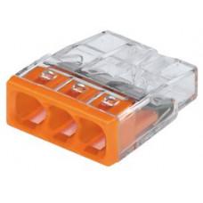 Wago 3-Way Push Wire Splice Connector (x100)