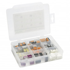 Wago 51228987 Basic Installation Box With 75 Assorted Wago Connectors & Plastic Carry Case