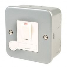 Click Scolmore CL051 Metal Clad 13A Double Pole Switched Fused Spur Connection Unit
