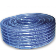 "1/4"" Clear Braided PVC Hose Pipe - Per 1m Length"