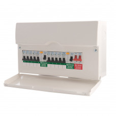 BRITISH GENERAL 10-WAY POPULATED HIGH INTEGRITY DUAL RCD CONSUMER UNIT (2920G)