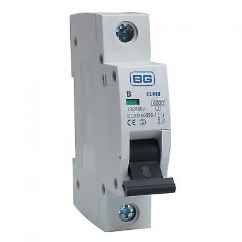 BG CUMB20 Single Pole Type B Miniature Circuit Breaker MCB 20A