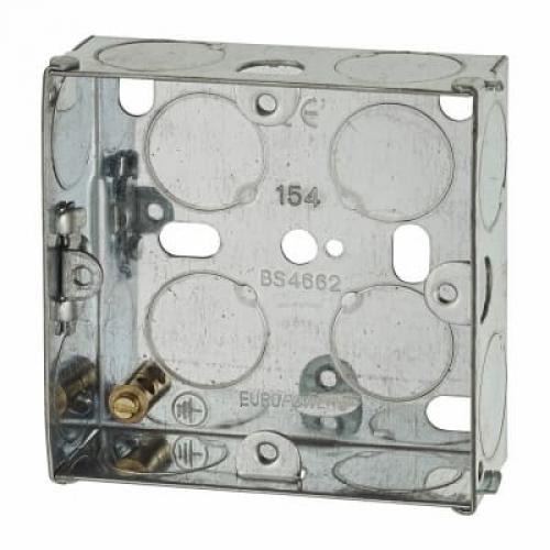 Switch/Socket Box 1G 25mm Metal