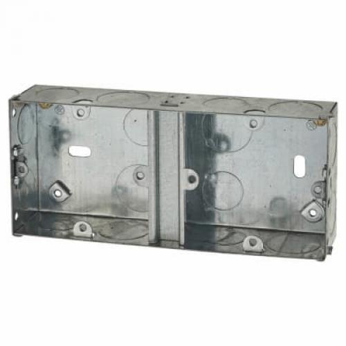 Switch/Socket Box Dual 35mm Metal
