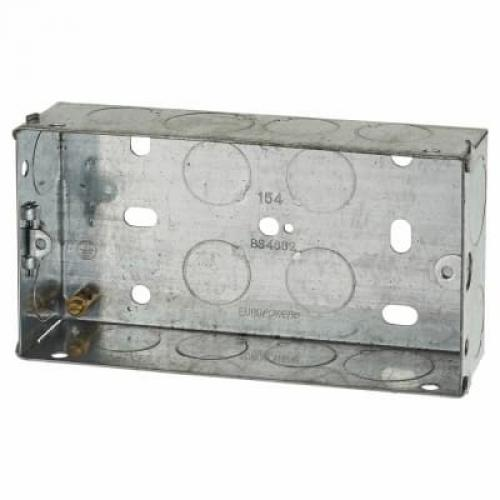 Switch/Socket Box 2G 35mm Metal