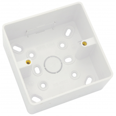 Univolt 1 Gang 32mm PVC LSF Round Cornered Surface Box