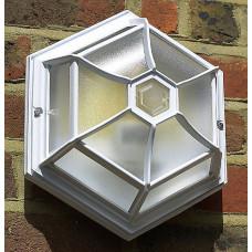 JCC Hex Wall Light White - 60w ES (NEW IN BOX)