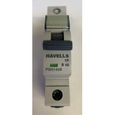 Havells 40 Amp Type C Mcb Circuit Breaker 3 Phase Pole PSH340C New