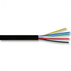 6 CORE ALARM CABLE 100M BLACK