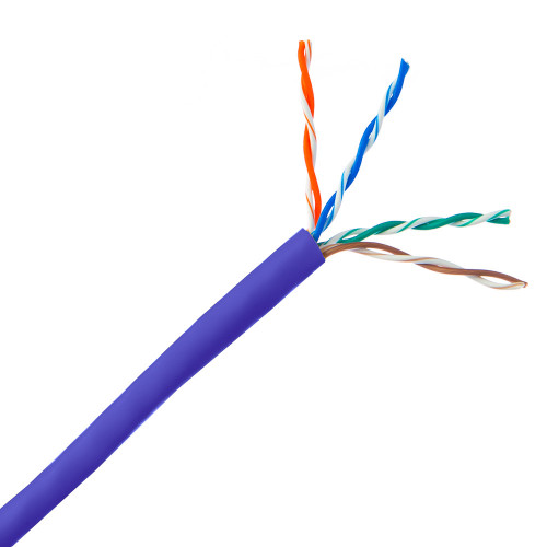 CAT5E CABLE UNSCREENED 305M PURPLE SOLID