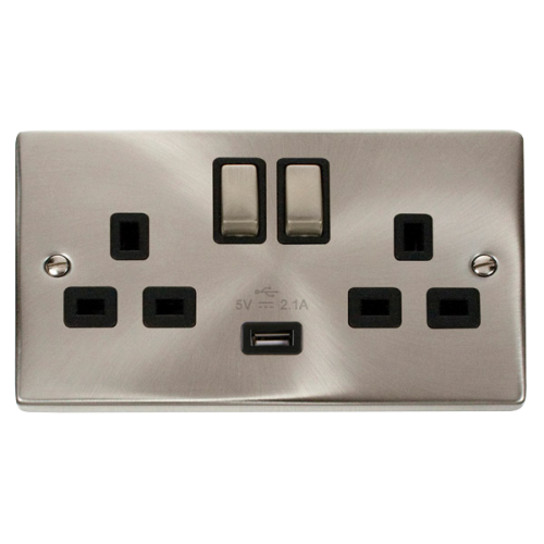 CLICK VPSC570BK SOCKET 2G SWD & USB 13A