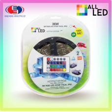 ALL LED - 5M 36W IP65 RGB LED STRIP BLISTER PACK (7.2W/M)