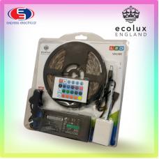 ECOLUX - 5M LED STRIP LIGHTS 5050 RGB COLOUR CHANGING TAPE