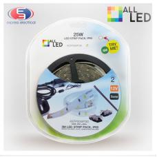 5m LED Strip Pack 25W IP65 3000K
