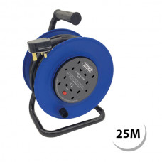4 Gang 13 Amp Heavy Duty Extension Reel – 25 Metre Lead