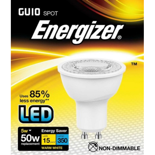 ENERGIZER LED GU10 350LM 5W WARM WHITE
