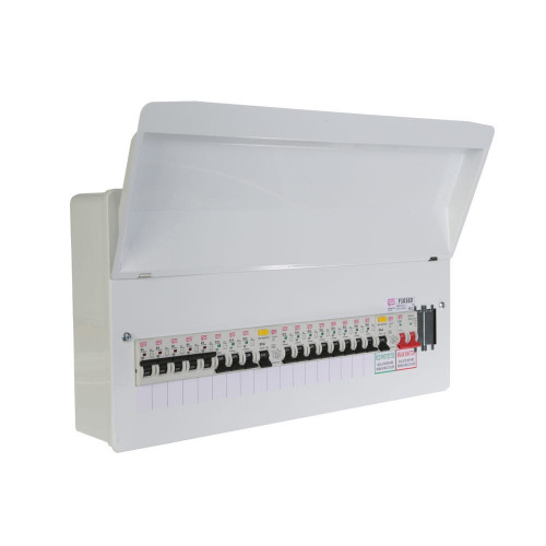 FuseBox 16 Usable Way Split Load Populated Consumer Unit 2 X 80A RCD + 16 MCB