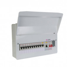 FuseBox 10 Usable Way Split Load Populated Consumer Unit 2 X 80A RCD + 10 MCB