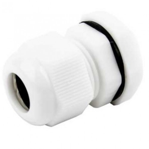 25mm White PVC Compression Gland (x10)