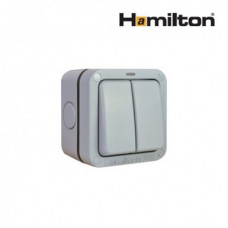 Hamilton Elemento R22Ngy Switch 2G 2 Way 10Ax Gry