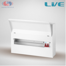 LIVE Consumer unit - 100A Main Switch 8 - 14 Way