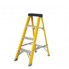 Fibreglass Ladder 4 Tread Yellow