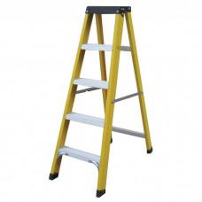 Fibreglass Ladder 5 Tread Yellow