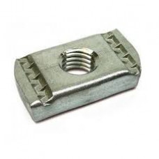 M6 No Spring Plain Channel Nut BZP x1