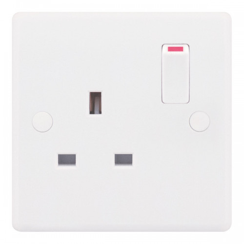 Selectric  Socket 1G Switched Sp 13A Whi