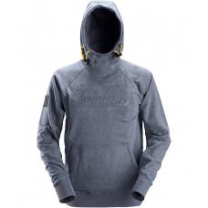 Snickers 2881- Hoodie Logo Blue Melange