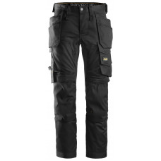 Snickers 6241 AllRoundWork Stretch Holster Pocket Trousers Black on Black