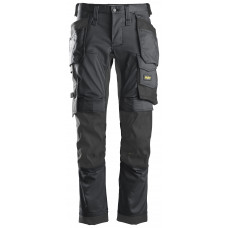 Snickers 6241 AllRoundWork Stretch Holster Pocket Trousers Steel Grey/Black