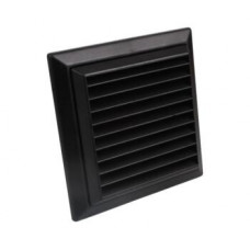 "4"" Fixed Grill Black 100mm"