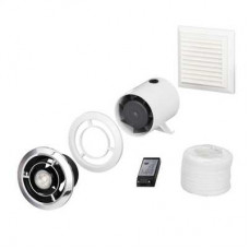 "Domus Ventilation 100mm 4"" In-Duct LED Showerlight Fan Kit with Timer SPV802ETLED"