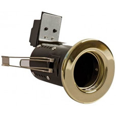 FGFB-1 - Fire Rated Fixed GU10 Downlight - Brass
