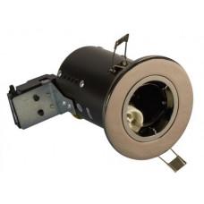 FGFBCDC Fire Rated Downlight GU10 Fixed - Black Chrome - Diecast