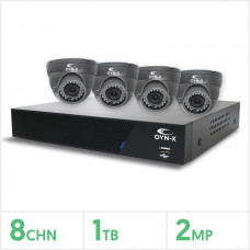 8 Channel 4 Camera HD Kit 1Tb Varifocal