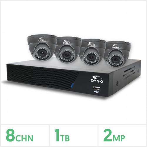 8 Channel 4 Camera HD Kit 1Tb Varifocal